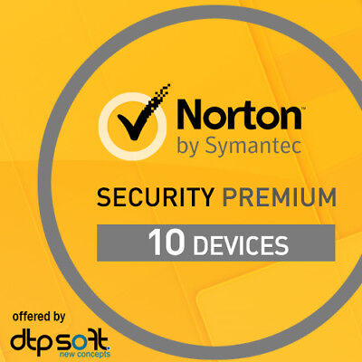 Norton Security Premium 2019 10 Appareils 10 PC 2 ans PC ANDROID 2018 BE EU
