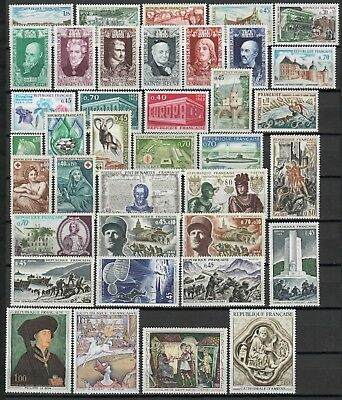s25020) FRANCE 1969 MNH** Nuovi** Complete year set Y&T 1582/1620