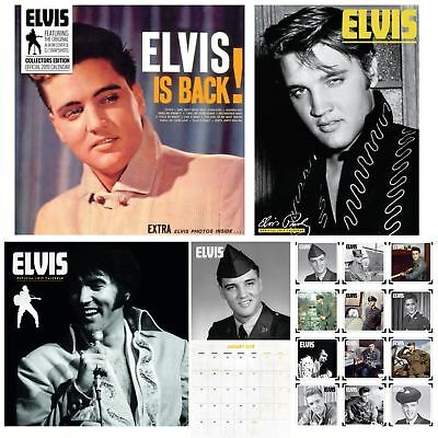 Official 2019 Elvis Presley Calendar A3 Square Slim Music Artist Wall Hanging