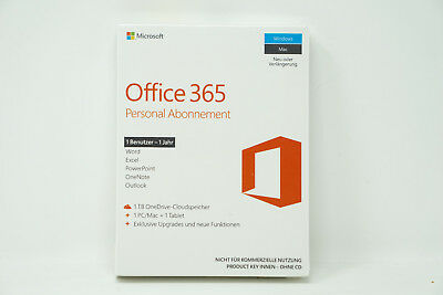 Microsoft Office 365 Personal - 1 PC/MAC + 1Tablet - 1 Jahr Abo