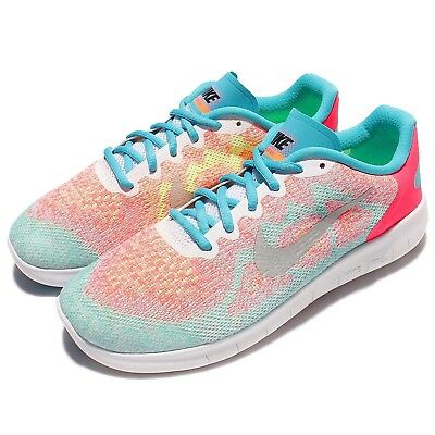 49e9a1a25f2a2 Nike Free RN 2017 GS Run Pink Kids Girls Women Running Shoes 904258-100
