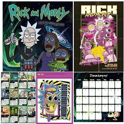 Official 2019 Rick and Morty Calendar A3 Square Slim TV Wall Hanging