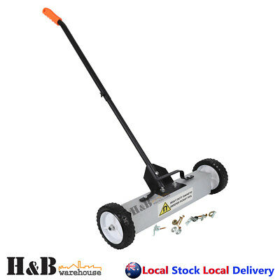 """18"""" Magnetic Sweeper Pickup Tool Heavy Duty Magnet Broom Pick up Tools On Sale"""
