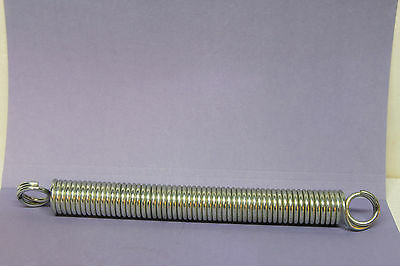 "Large Steel Extension Spring, 1"" x 10"" x 1/8"" - Zinc Plated - Closed Loop Ends"