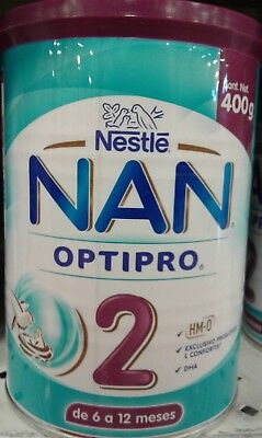 NESTLE NAN OPTIPRO 2 - 2 CANS of 400g each - FREE PRIORITY SHIPPING