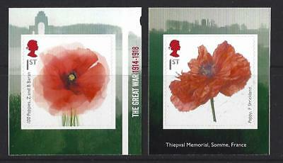 Great Britain 2018 The Great War Self Adhesive  Booklet Pair Unmounted Mint, Mnh