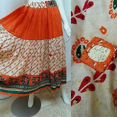 ab162a8f6e Indian Cotton Hippie Women Mirror Work Embroidered Full Skirt - Size M/L