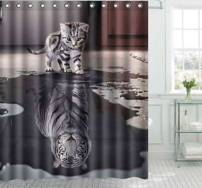 Polyester Fabric Shower Curtains Animal Pattern Design Home Bathroom Decorations