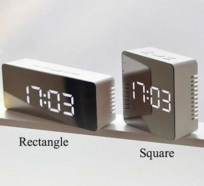 Electronic Alarm Clock Mini Bedside Decoration Multi Functional Mirror Style New