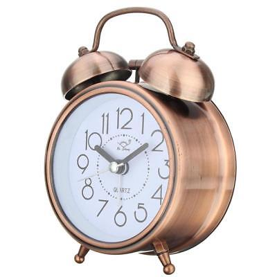 Alarm Clocks Metal Bell Night Light Function Vintage Retro Style Bed Side Decors