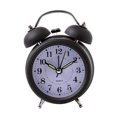 Alarm Clock For Home Bedside Decoration Vintage Style Metal Twin Bell Clocks New