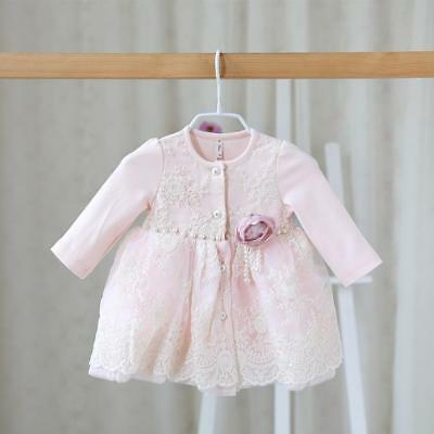 Baby Girl Casual Dress Cute Elegant Exquisite Lace Floral Pattern Soft Wears New