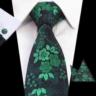 Men's Formal Neck Tie Set Floral Pattern High Quality Classic Suit Accessory New