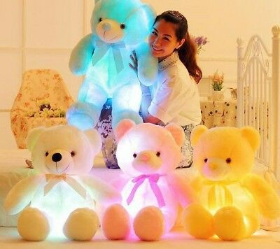 50cm Light Up LED Teddy Bear Creative Stuffed Animals Plush Toy For Children New