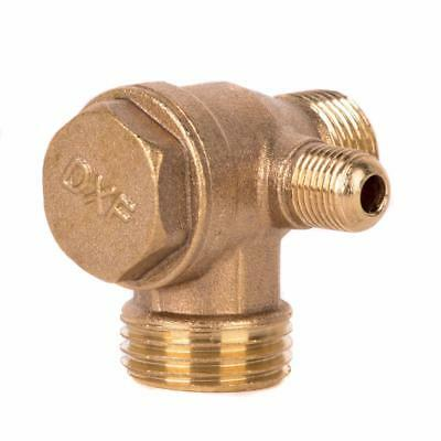 Male Thread Check Valve Cast Iron 3 Port Connector Tool For Air Compressor Tools