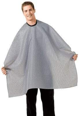 $$$10.99***betty Dain Stripped Barber Cloth Cape*navy& White*free Shipping