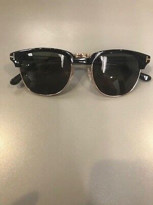 a85e8bac0af8 Brand New 100% Authentic Tom Ford Henry Tf248 05N Black gold Sunglass  eyeglass