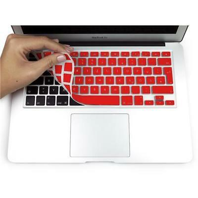 "Coque clavier silicone QWERTZ pour Macbook Air 13"" Pro 13 & 15"" Silicone Rouge"