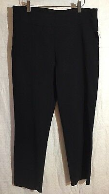 9fba7fc2c4f Counterparts Women s Pants Black Stretch Solid Pull On Size 14 New Career  Dress