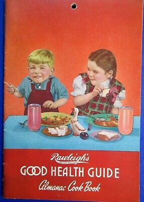 1952 Rawleigh's Good Health Guide & Almanac Cook Book -Excellent Used Condition