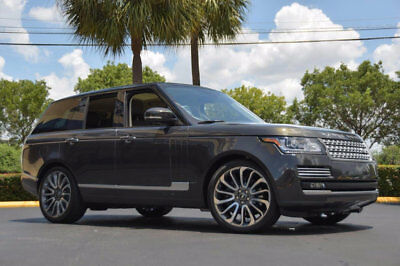 """Land Rover Range Rover 4WD 4dr SC Autobiography '14 Range Rover Autobiography Pkg, 22"""" Wheels,Wood & Leather Steering,Blk Roof."""