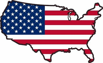5in x 3in Die Cut USA United States Of America Flag Bumper Sticker Decal Wind...