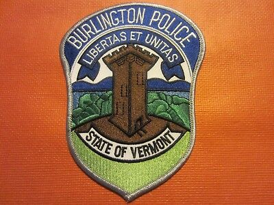 Collectible Vermont Police Patch, Burlington, New
