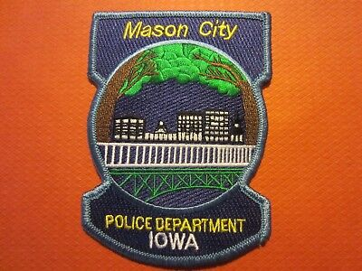 Collectible Iowa Police Patch,Mason City, New