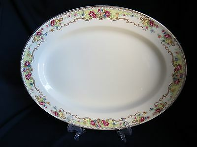 "15-1/2"" Oval Serving Platter, KNO271 pattern by Edwin Knowles China"