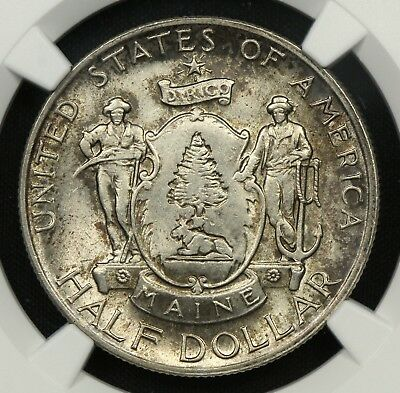 NGC MS65 1920 MAINE CENTENNIAL COMMEMORATIVE SILVER HALF DOLLAR 50c     (BC06)