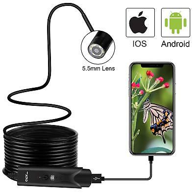 USB Endoscope Inspection Camera for iPhone/Android 2.0MP CMOS HD Waterproof