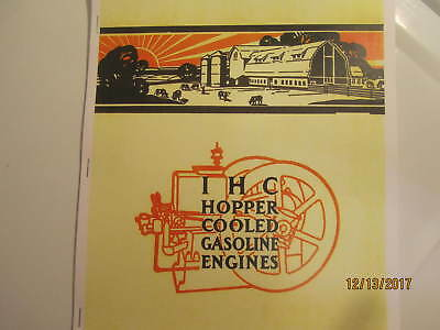 "HIT AND MISS GAS ENGINE TRACTOR STICKER 12/"" INTERNATIONAL IH YELLOW"