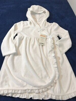 Gymboree Cover Up 18 24 Months white hooded Swim Suit Beach Pool