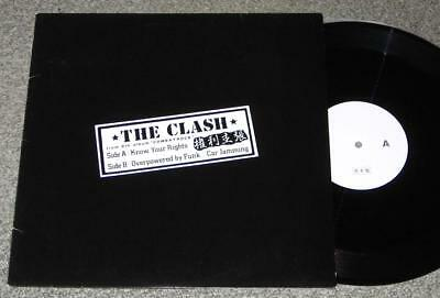 THE CLASH Japan PROMO ONLY 12 inch test press RARE PUNK white label JOE STRUMMER