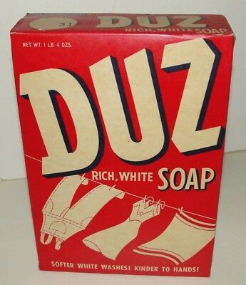 1950s Unopened Box DUZ SOAP  Laundry Soap 20 Ounce NEAR MINT