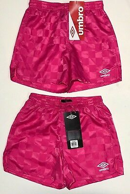 67699f11309 UMBRO YOUTH SOCCER Short Checkered Pink Rock XS (6-8) Lot of 2 #4 ...