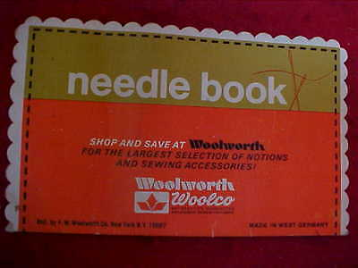 Woolworth-Woolco Needle Book - Made In West Germany