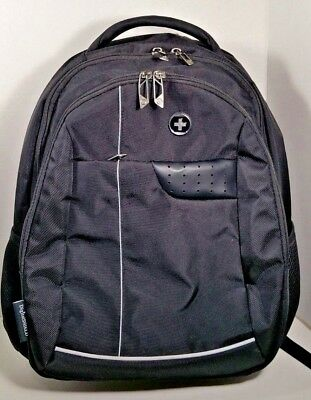 Swissdigital Laptop Men's Backpack, Busniess Travel Black RFID Identity protect