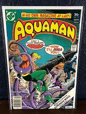 DC Bronze-Age AQUAMAN #57  Beautiful Cover 1977 (Justice League)