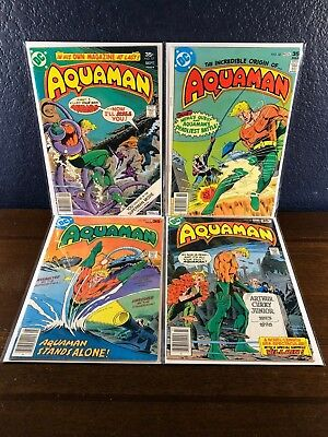 DC Bronze-Age AQUAMAN #s 57 58 59 62  Origin Story & Death 1977 Lot Set Run