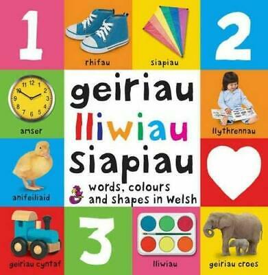 Words, Colours and Shapes in Welsh / Geiriau... by Glyn & Gill Saunders Hardback