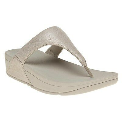 4872f19d8c3 New Womens FitFlop Natural Metallic Shimmy Suede Toe Post Sandals Flip Flops