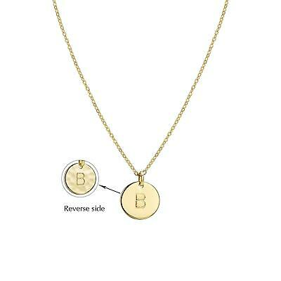 5c8827372 Befettly Initial Necklace Pendant 14K Gold-Plated Round Disc Double Side  Engrave