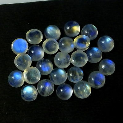 70% OFF !! 3mm To 10mm Natural Rainbow MOONSTONE Round Cabochon loose Gemstone