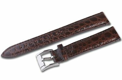 New 20mm Brown Genuine Leather Strap/Band for Emporio Armani Watch AR4627 AR4604