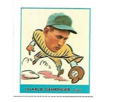 1977 Dover 1938 Goudey Charlie Gehringer #241 Detroit Tigers Exmt Free Shipping