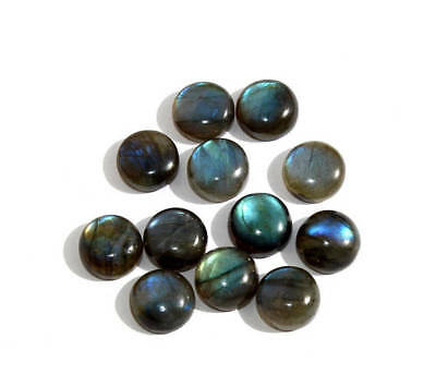 70% OFF 3mm To 10mm Natural Blue Fire LABRADORITE Round Cabochon loose Gemstone