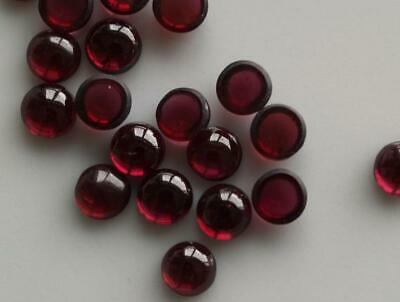 70% OFF !! 3mm To 10mm 100% Natural Red Garnet Round Cabochon loose Gemstone