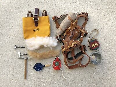 Rare Breyer Horse Traditional Accessory Crossbuck Pack Saddle Panniers Camping