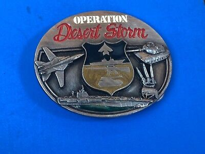 Belt Buckle  Operation Desert Storm 1991 Military Army, Navy Air-force Tribute